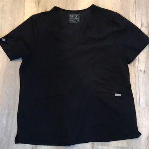 Black casma 3 pocket scrub top xxl gently used